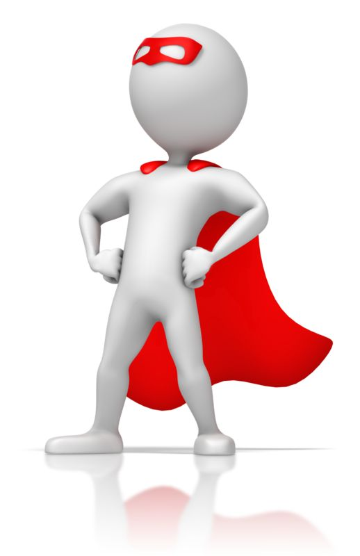 Clipart - Masked Superhero Standing Strong