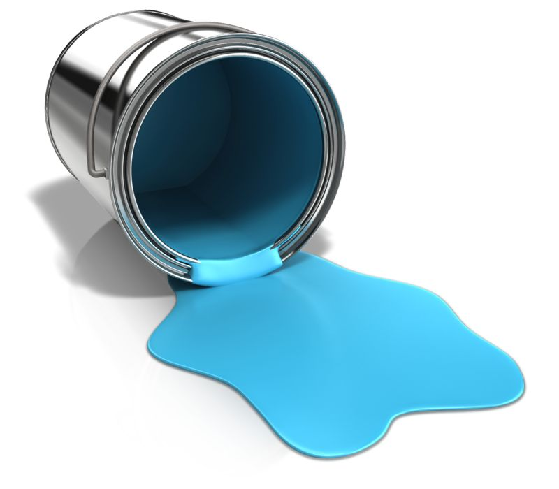Clipart - Paint Can Spilled On Ground