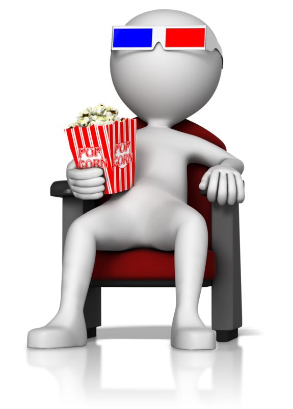 Clipart - Figure at 3D Movie
