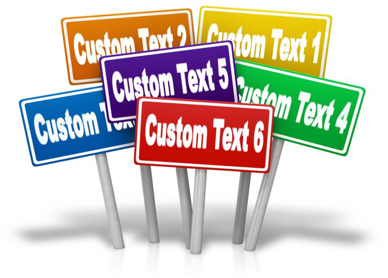 This Presentation Clipart shows a preview of Multiple Signs Custom