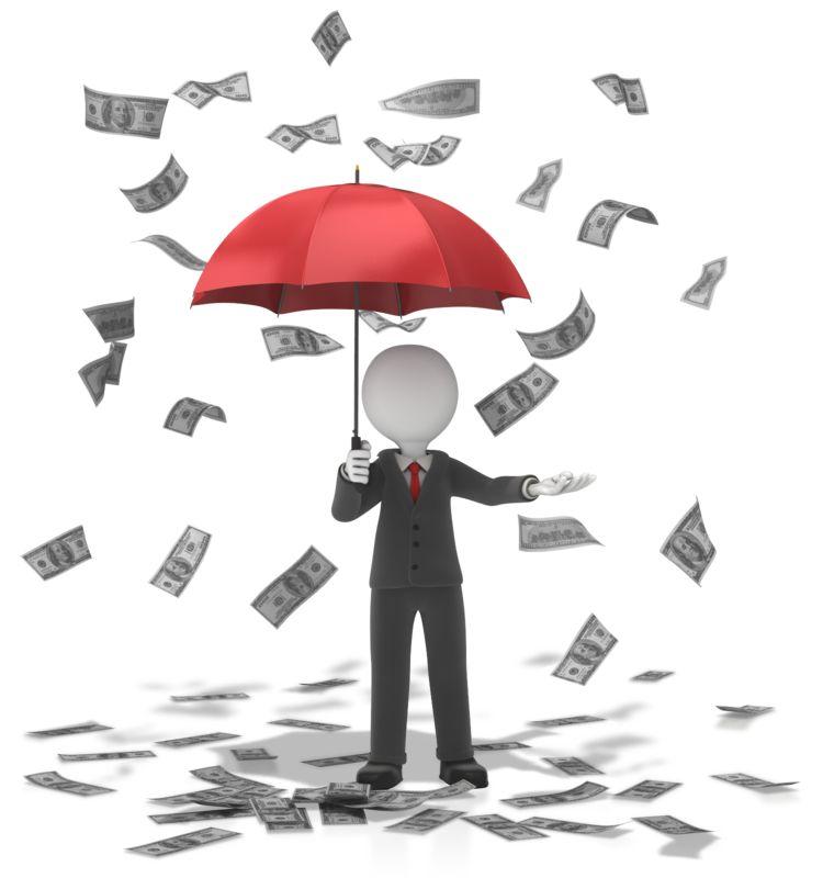 Clipart - Business Figure Money Falling