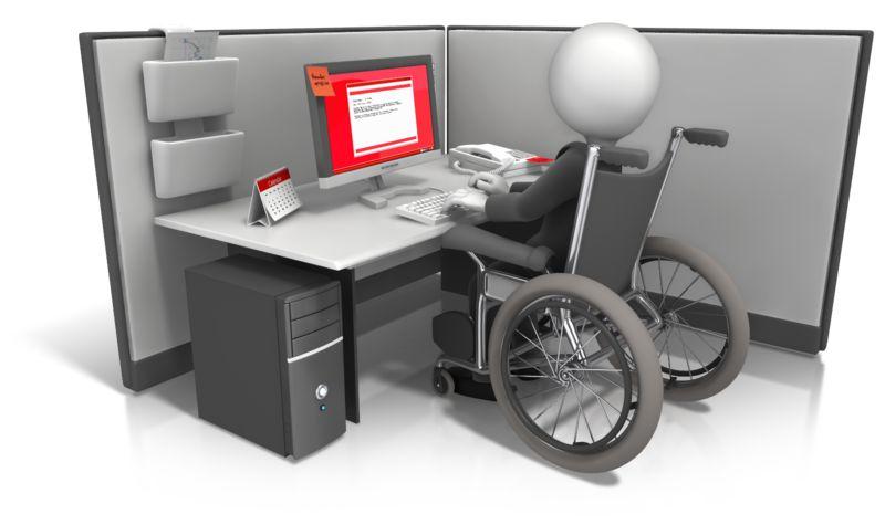 Clipart - Figure Wheelchair Cubicle