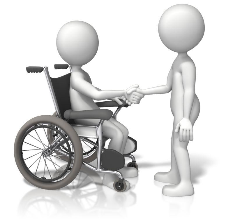 Clipart - Wheelchair Shake Hands