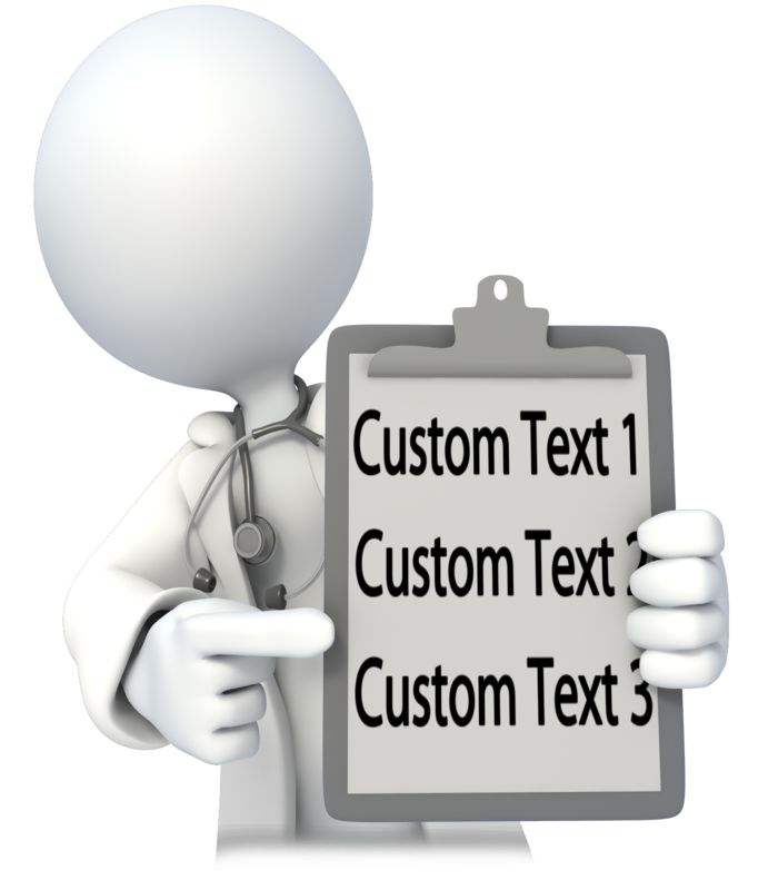 This Presentation Clipart shows a preview of Doctor or Nurse With Custom Chart