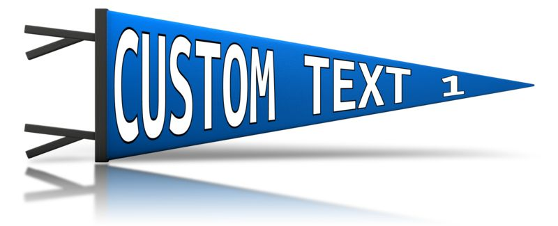 This Presentation Clipart shows a preview of Custom Pennant