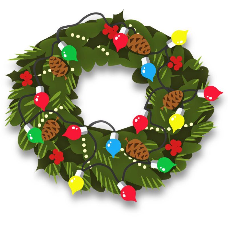 Clipart - Christmas Wreath Decor