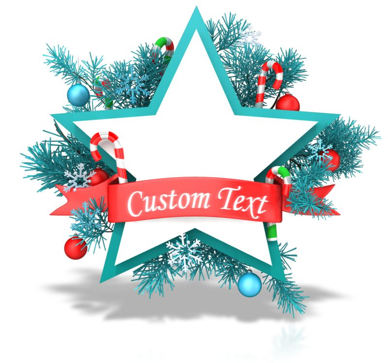 This Presentation Clipart shows a preview of Christmas Star Banner