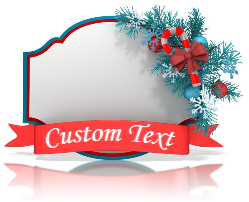 This Presentation Clipart shows a preview of Christmas Shape Banner