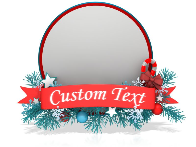 This Presentation Clipart shows a preview of Festive Christmas Circle Banner