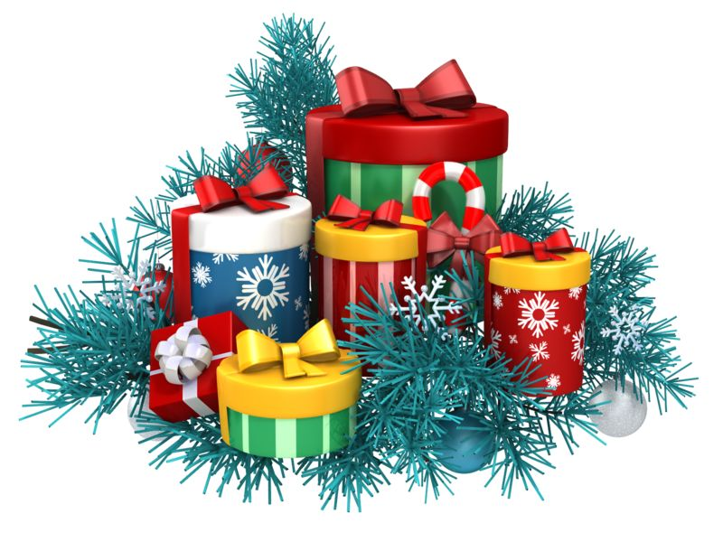 Clipart - Gifts Christmas Pine