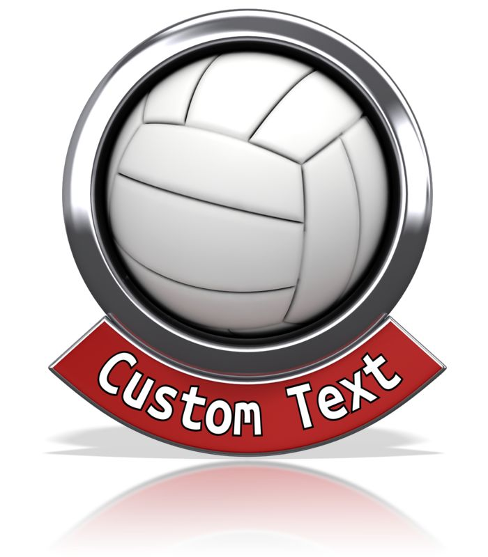This Presentation Clipart shows a preview of Volleyball Chrome Banner