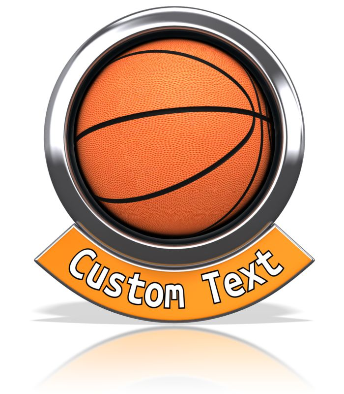 This Presentation Clipart shows a preview of Basketball Chrome Banner