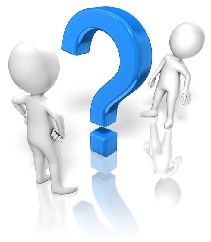 Clipart - Question Between Figures