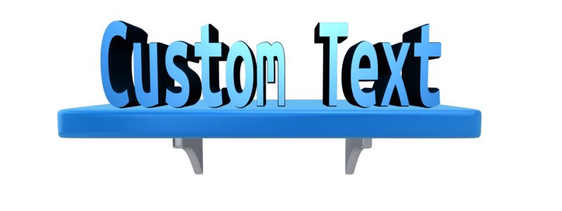 This Presentation Clipart shows a preview of Custom Text On A Shelf