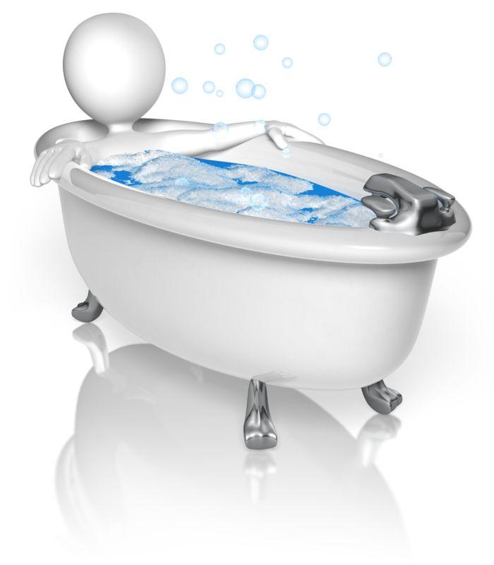Clipart - Figure In Bubble Bath