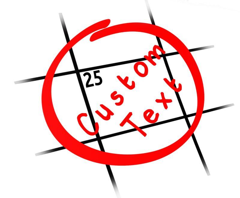 This Presentation Clipart shows a preview of Custom Date Calendar