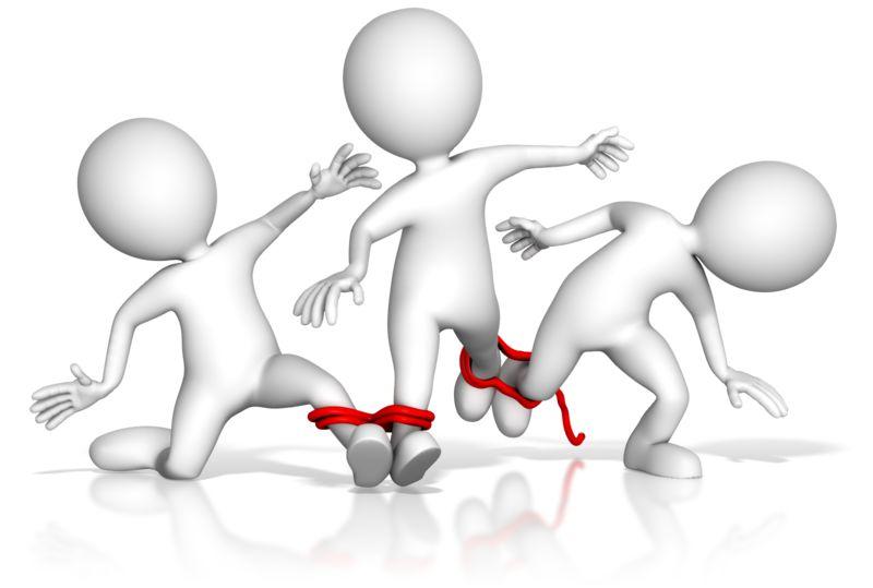 Clipart - Four Legged Team Race Fail