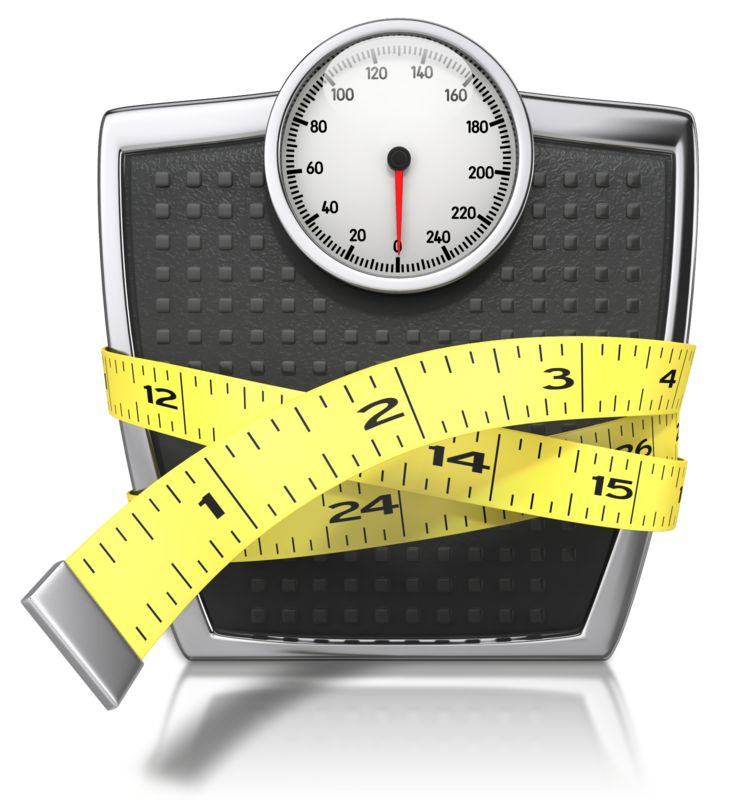 Clipart - Scale With Tape Measure