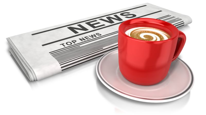 Clipart - Coffee And News