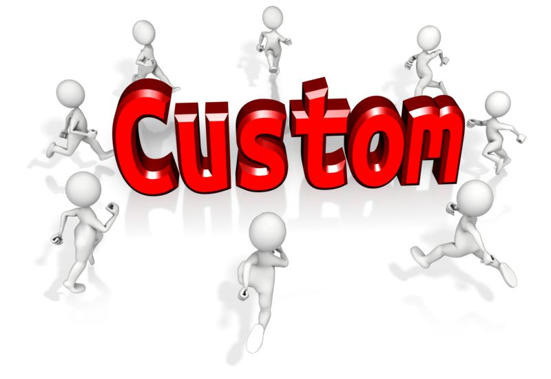 This Presentation Clipart shows a preview of Mob Running To Custom Text