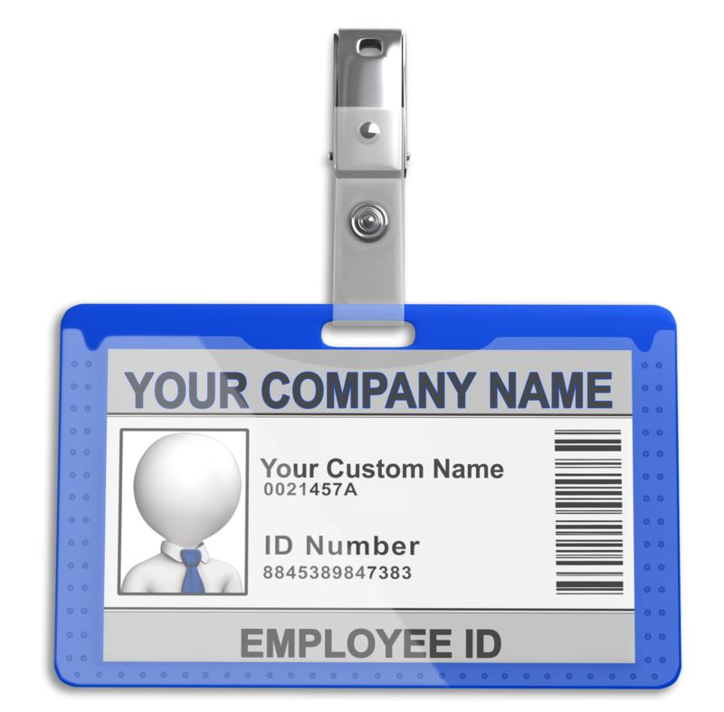 This Presentation Clipart shows a preview of Single Id Badge
