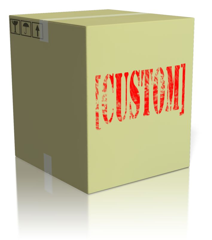 This Presentation Clipart shows a preview of Custom Text On Box