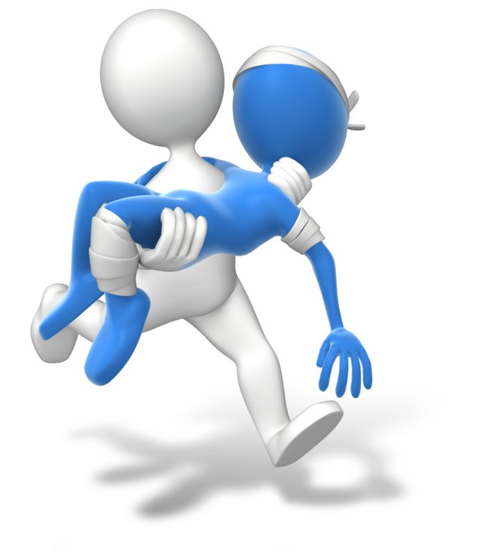 Clipart - Running Carry Injury