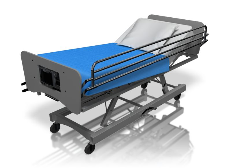 Clipart - Hospital Bed