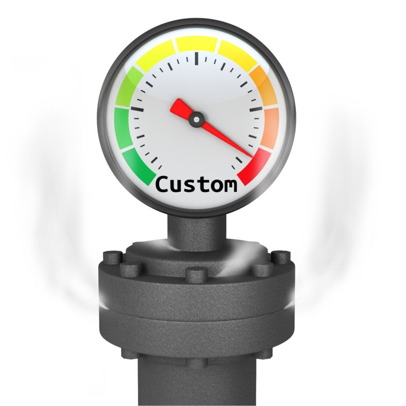 This Presentation Clipart shows a preview of Custom Pressure Gauge