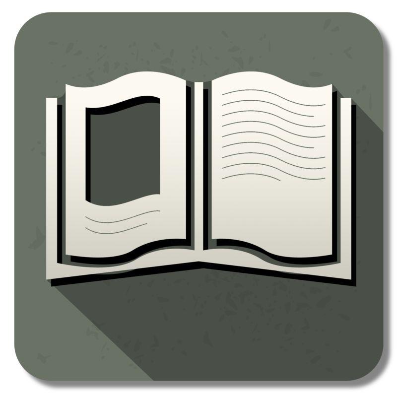 Clipart - Book Square Icon