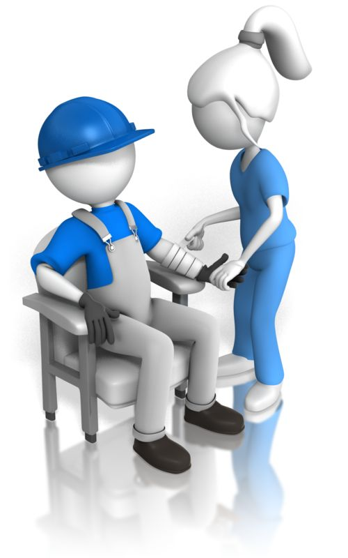 Clipart - Inspecting Construction Worker