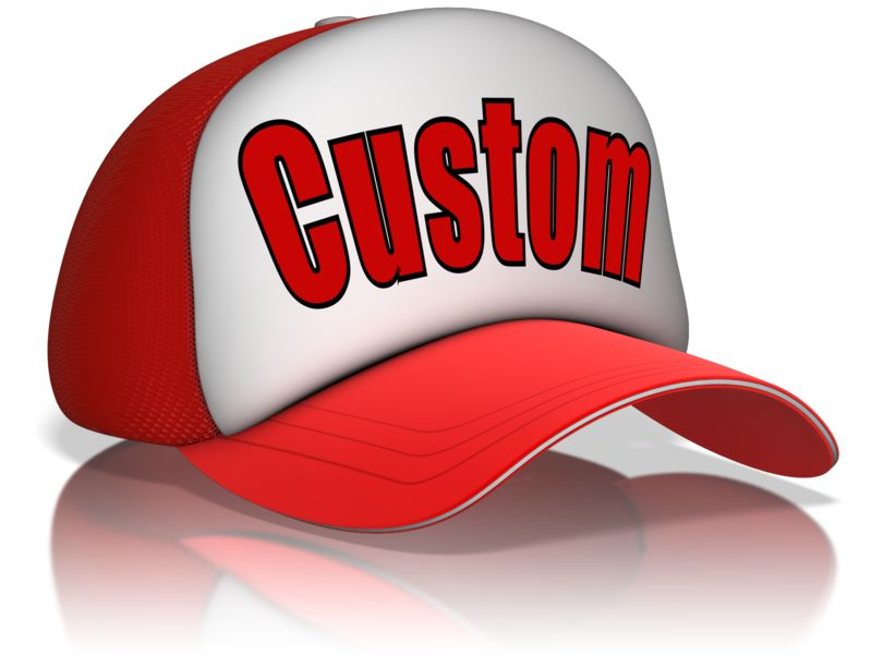 This Presentation Clipart shows a preview of Custom Text Hat