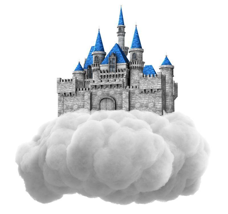 Clipart - Castle In Cloud