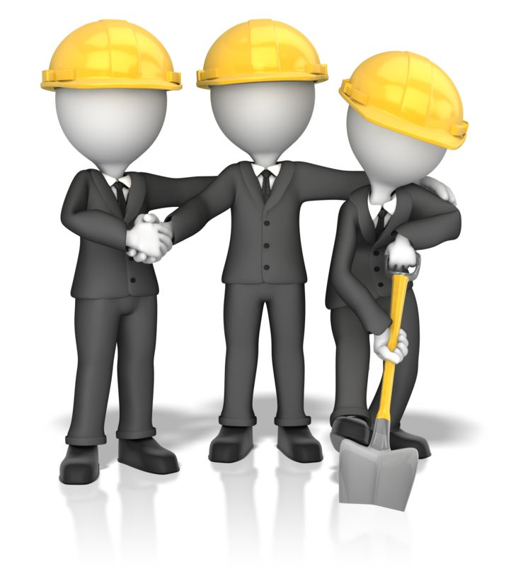 Clipart - Business Figures Breaking Ground