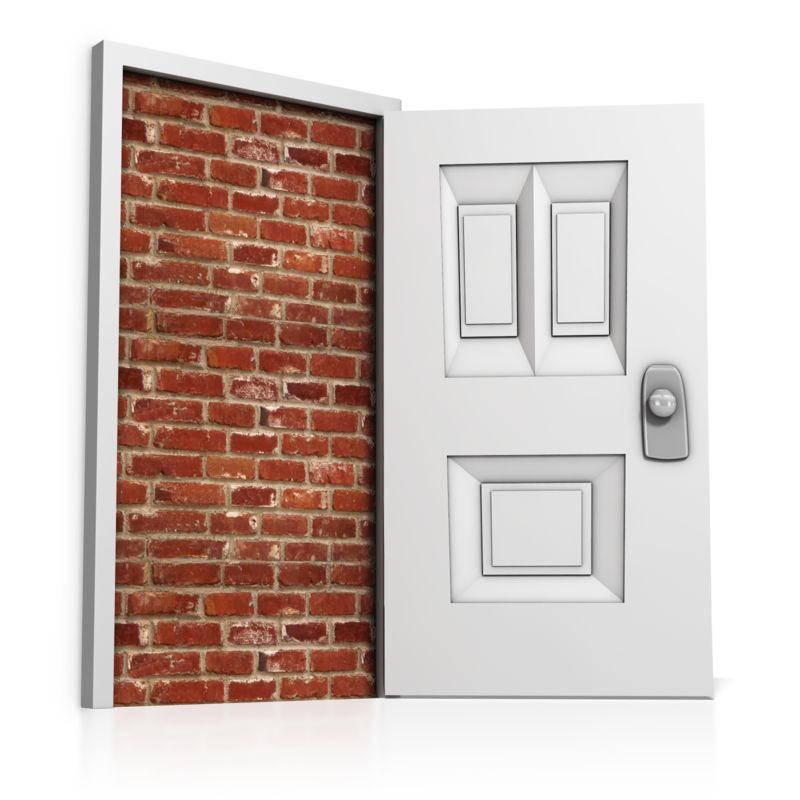 Clipart - Blocked Door