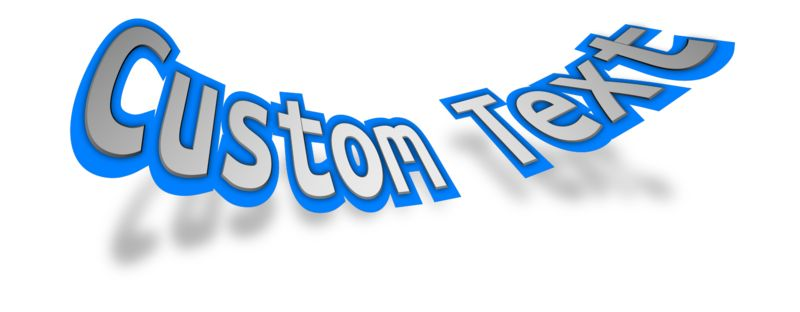 This Presentation Clipart shows a preview of Bent Text