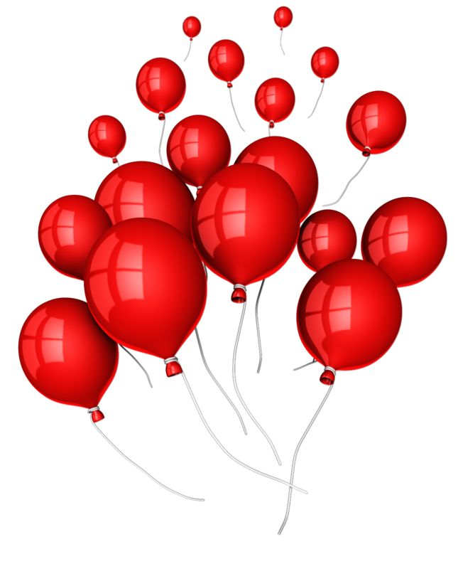Clipart - Balloons Floating Away
