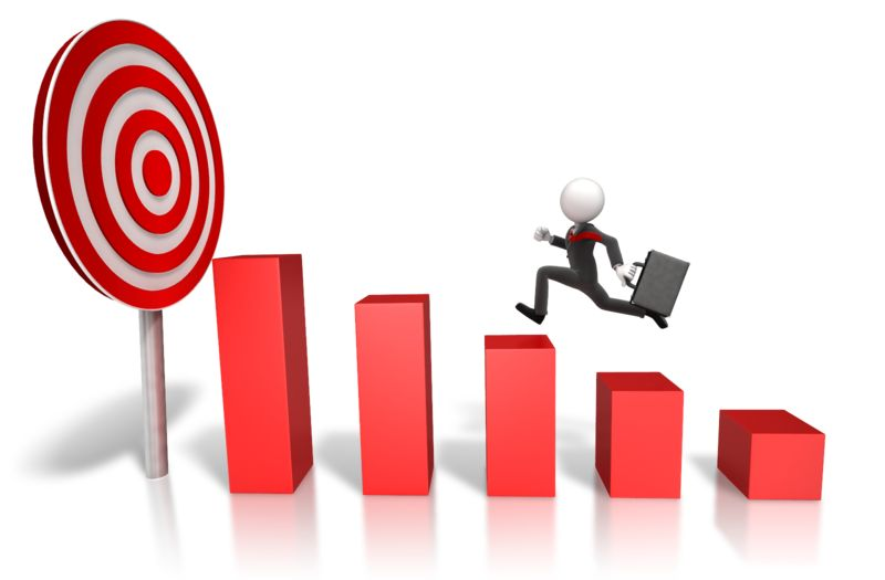 Clipart - Market Target Graph