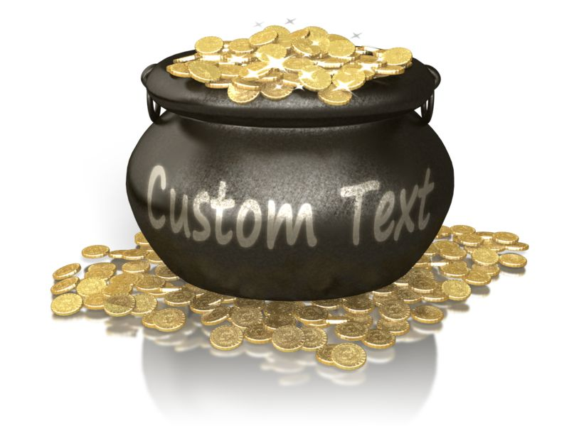 This Presentation Clipart shows a preview of Custom Pot Of Gold