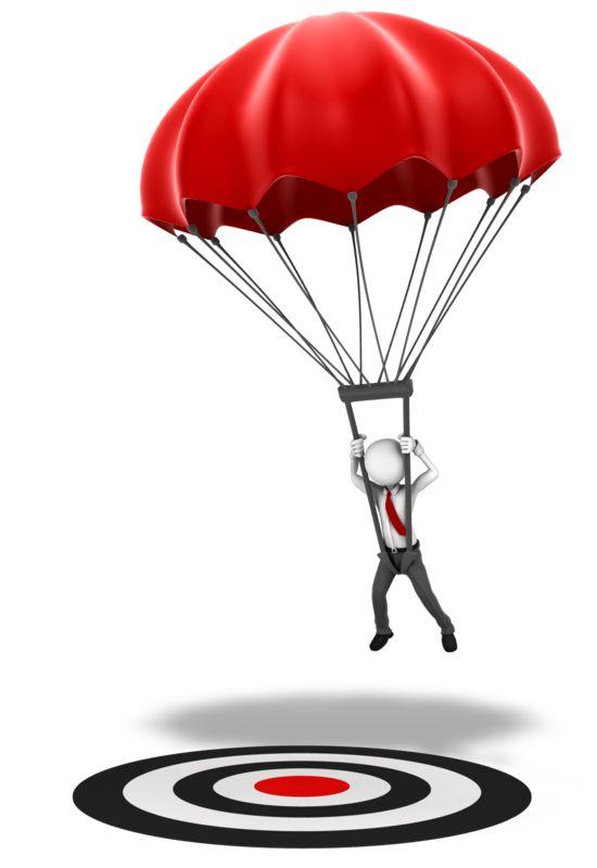 Clipart - Parachute Hit Target