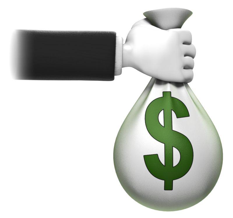 Clipart - Holding Money Bag