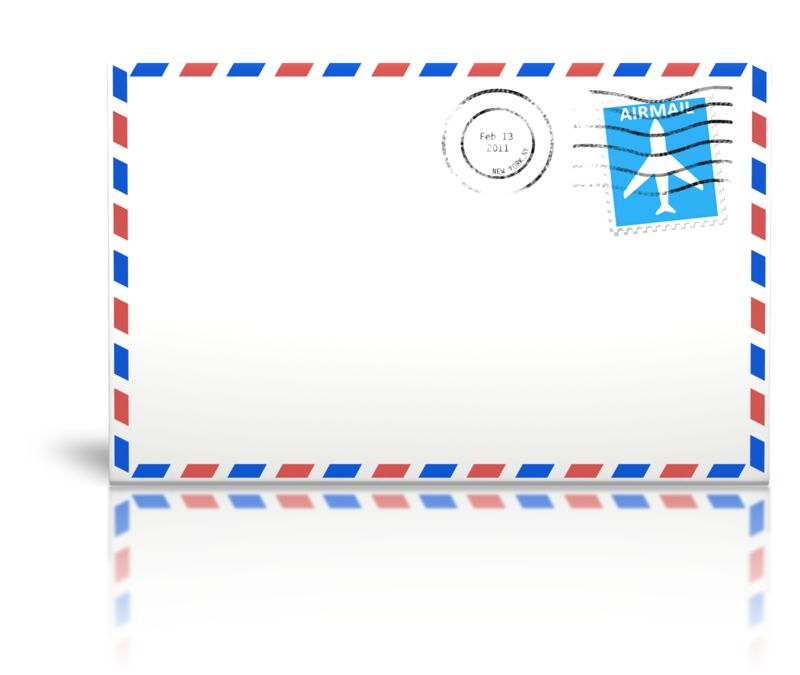 Clipart - Letter Airmail Cancelled Stamp