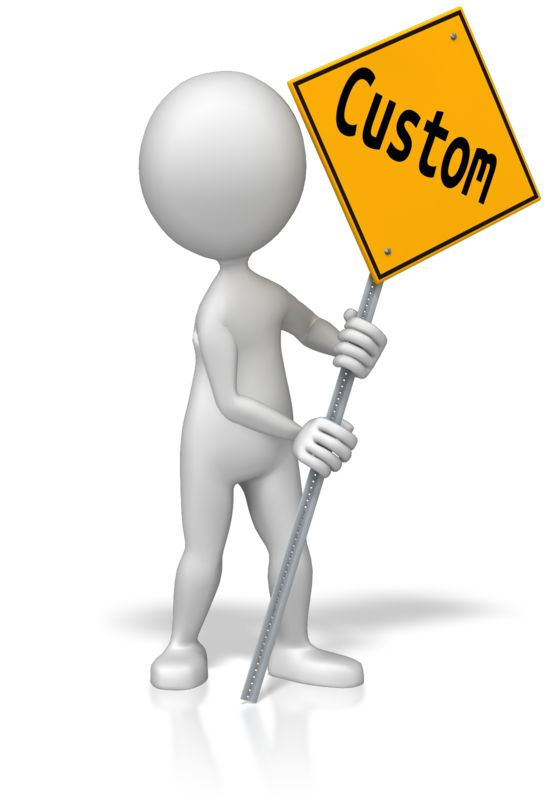 This Presentation Clipart shows a preview of Figure Holding Custom Street Sign