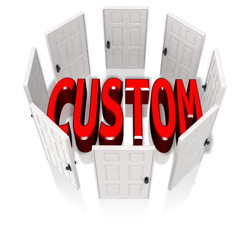 This Presentation Clipart shows a preview of Custom Circle Of Doors