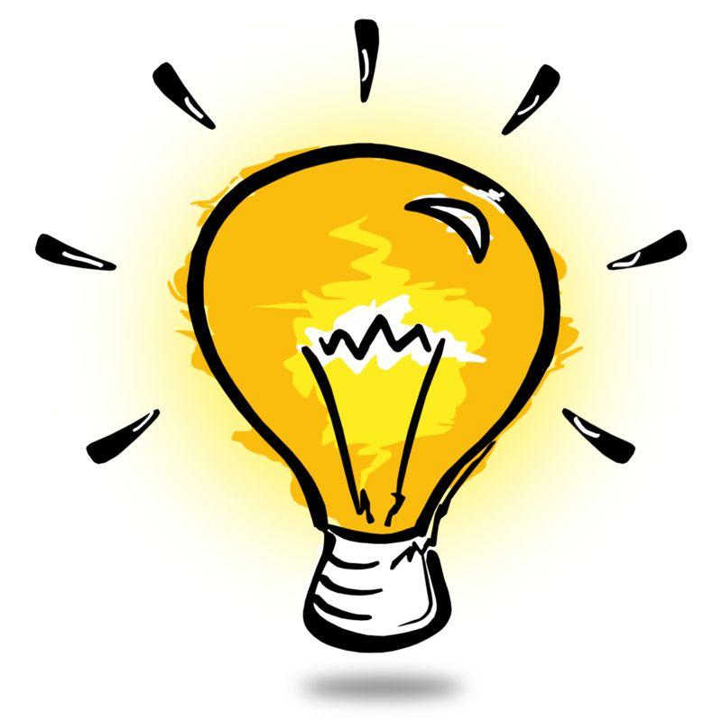 Clipart - Light Bulb Sketch