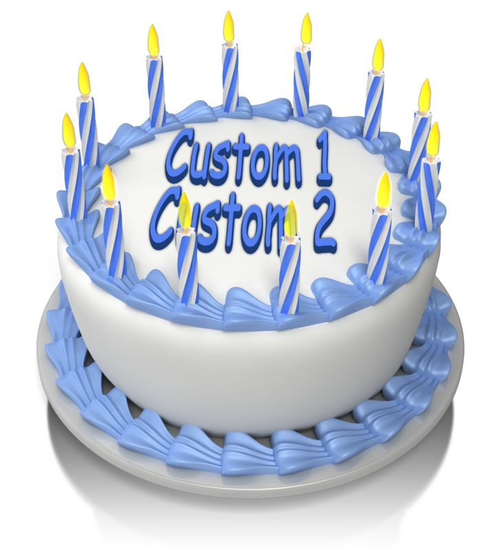 This Presentation Clipart shows a preview of Birthday Cake Custom