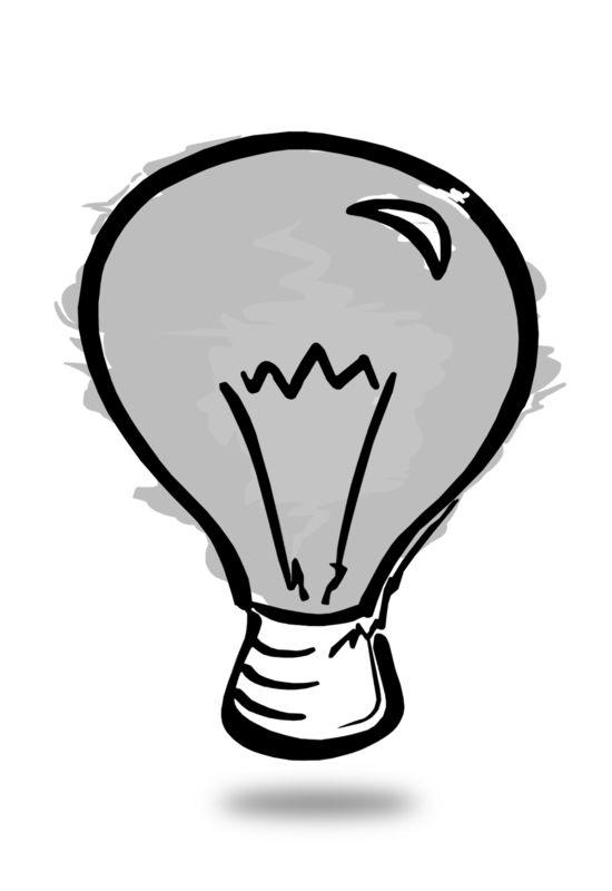Clipart - Light Bulb Sketch Off