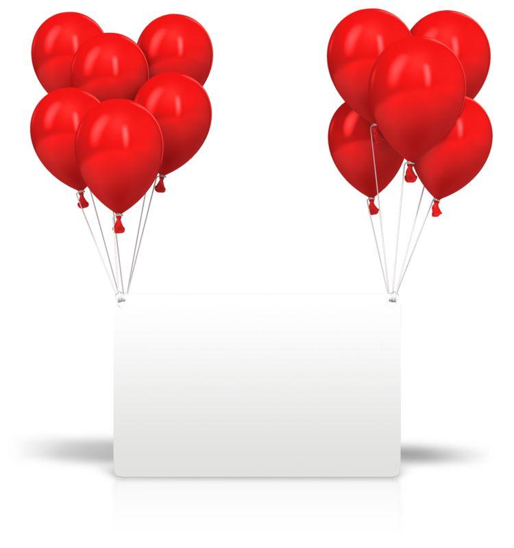 Clipart - Celebration Balloons Card