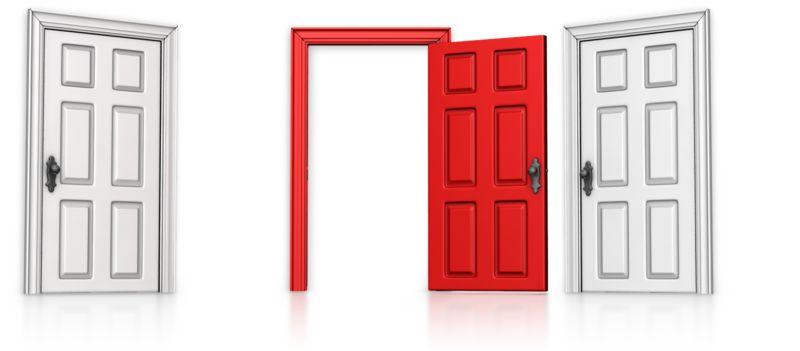Clipart - Choose Middle Door Open