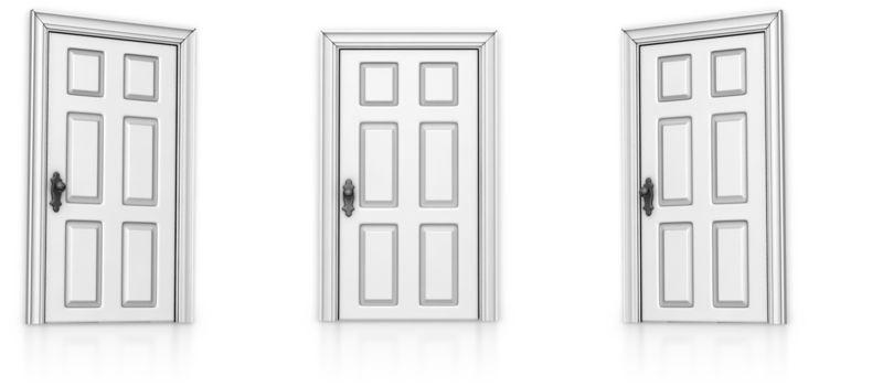 Clipart - Three Doors Choose
